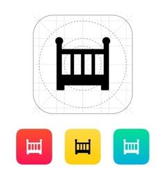 Crib icon vector