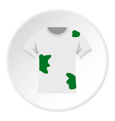 Dirty shirt icon circle vector
