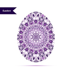 Easter egg background decorated with ornament vector image