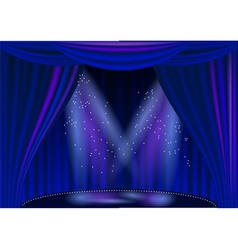 empty stage theater vector image