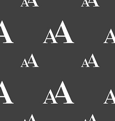 Enlarge font AA icon sign Seamless pattern on a vector
