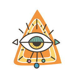 eye talisman as an occultism and prophecy sacred vector image