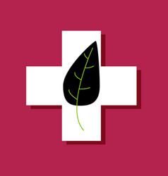 Flat icon design collection medical cross with vector