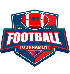 football tournament badge logo design vector image
