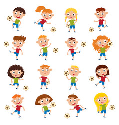 girls and boys playing vector image