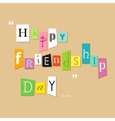 Happy Friendship Day Greetings vector image