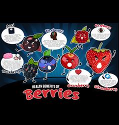 health benefits berries vector image