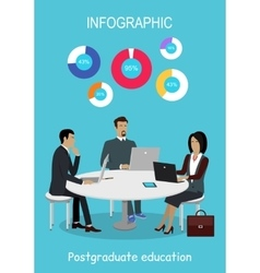 Infographic Education Online Distance Learning vector