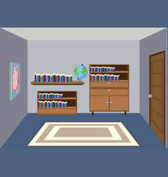 interior of reading room vector image