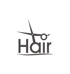 Letter hair with scissor and combhair vector