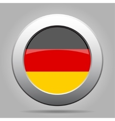 Metal button with flag of Germany vector