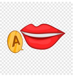 Mother language symbol icon cartoon style vector