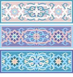 Muslim vintage floral ornament islimi vector