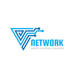 network - concept business logo template vector image