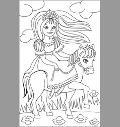 Page with black and white drawing riding vector