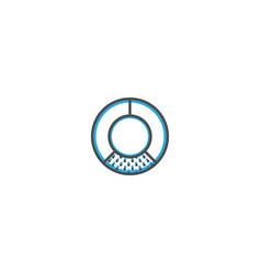 pie chart icon line design business icon design vector image