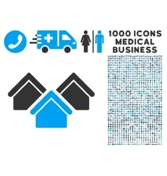 Real Estate Icon with 1000 Medical Business vector image