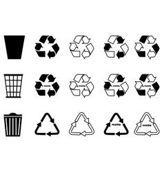 recycling settrash can vector image