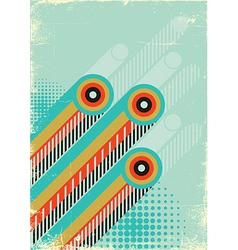 Retro abstract background for design on old paper vector