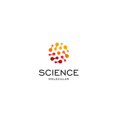 Science abstract red color halftone logo from vector