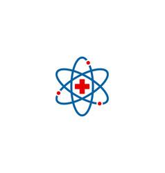 Science medical logo icon design vector