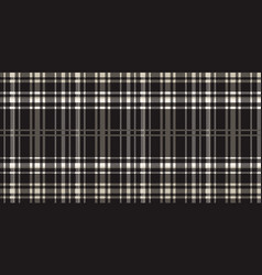 seamless black and white tartan pattern vector image