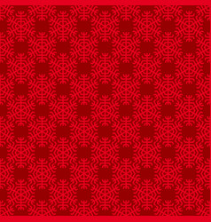seamless geometric snowflake pattern wallpaper vector image