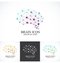 Set colorful template brain logo vector