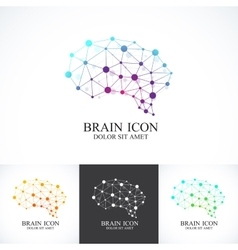 Set of Colorful Template Brain Logo vector
