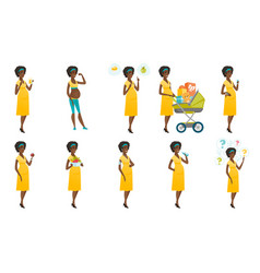 set of with pregnant women vector image