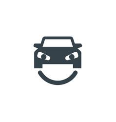 smile car concept logotype template design vector image