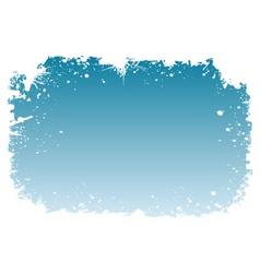 Snowy frame vector