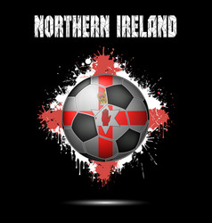 soccer ball in the color of northern ireland vector image