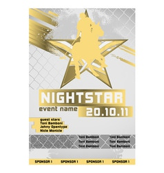 Sport event poster polo vector