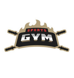 Sports gym logo vector
