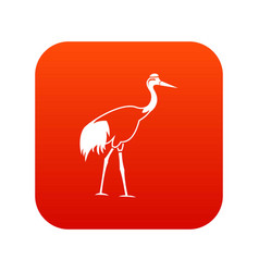 stork icon digital red vector image
