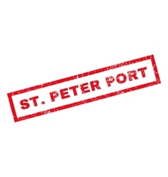 StPeter Port Rubber Stamp vector