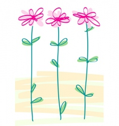 styled flowers vector image