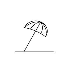 Sun umbrella icon vector