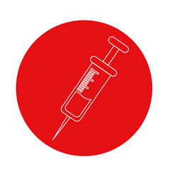 symbol of syringe tool treatment donation vector image