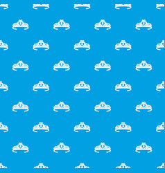 tiara crown pattern seamless blue vector image