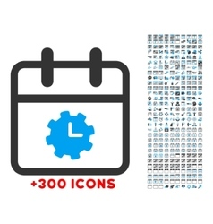 Time Service Day Icon vector