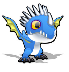 Toy dragon in blue color isolated on white vector