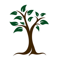 tree and leaves logo vector image