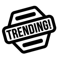 Trending black stamp vector