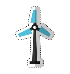 turbine generator energy icon vector image