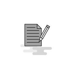 write document web icon flat line filled gray icon vector image