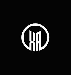 Xa monogram logo isolated with a rotating circle vector