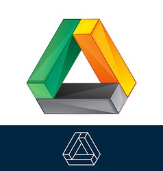 Abstract triangle logo vector image