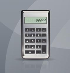 calculator on gray stylish background vector image vector image